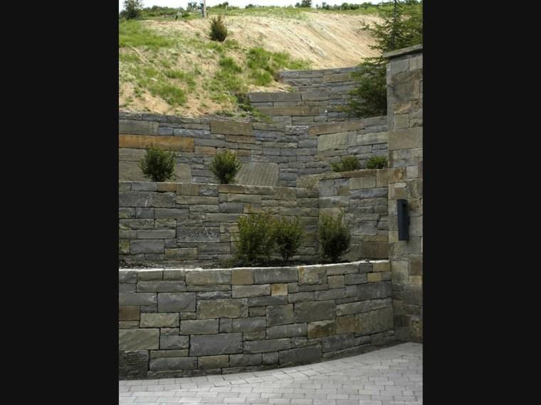 estupendas terrazas piedra seca