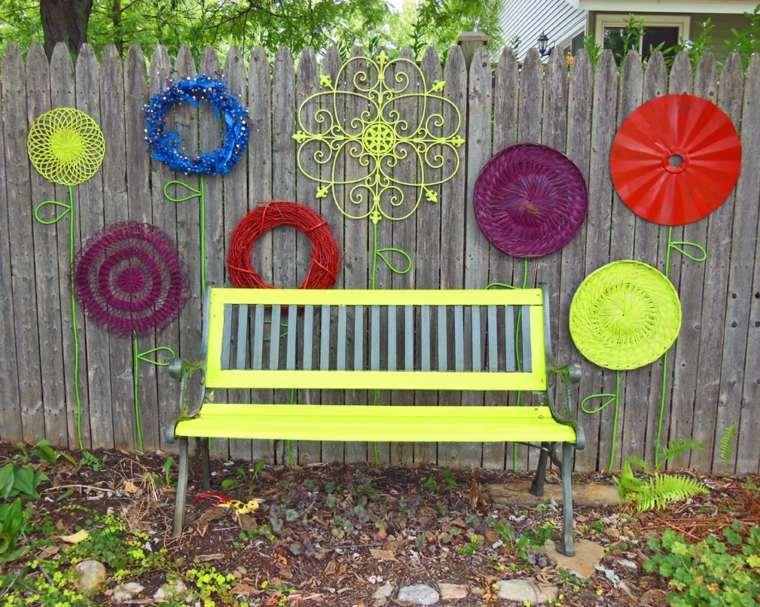 estupenda decoración valla jardin