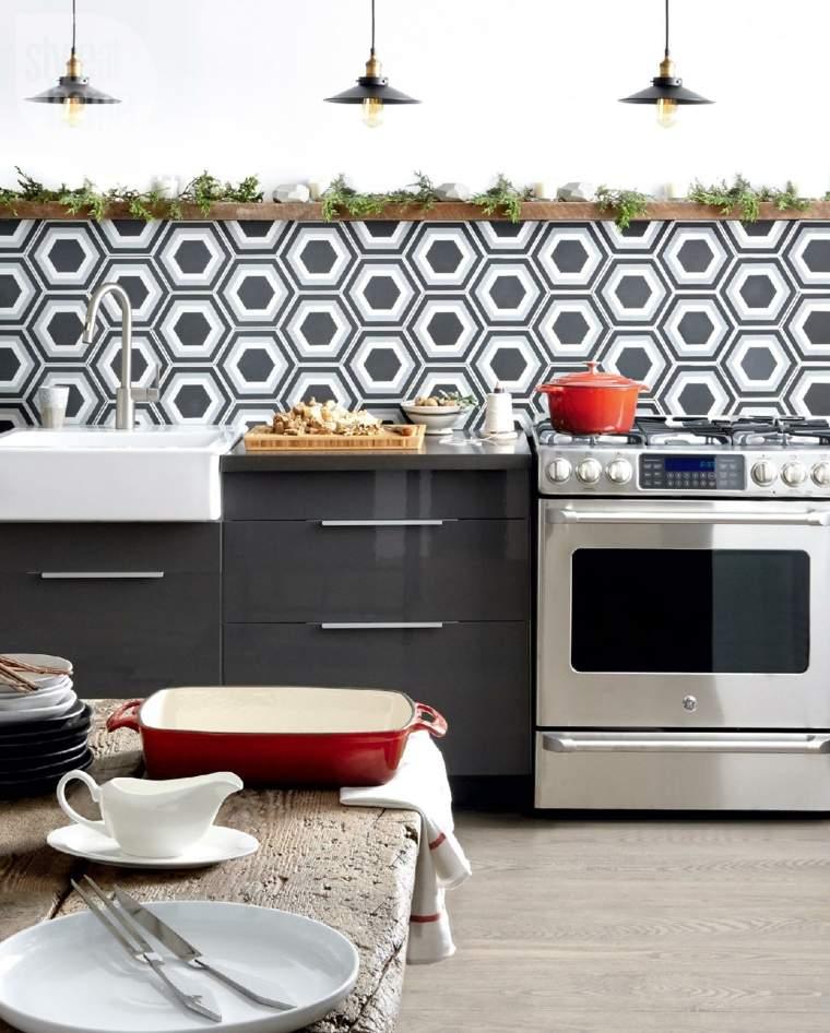 estupenda cocina pared papel