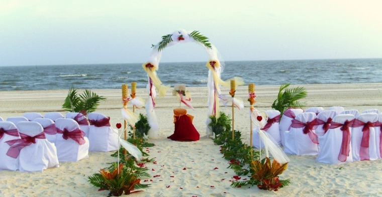 estupendo altar boda playa