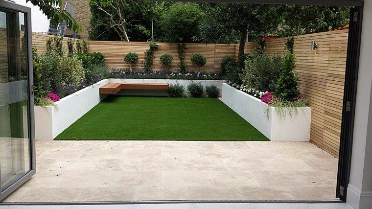 estupendo diseño jardin trasero