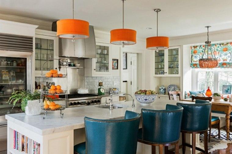 estupendo diseño colores cocina