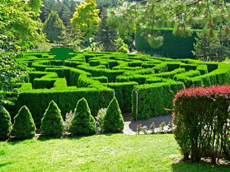 Laberinto en el jardín - pasos para diseñarlo y construirlo -
