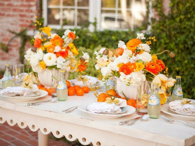 estupoenda mesa verano flores