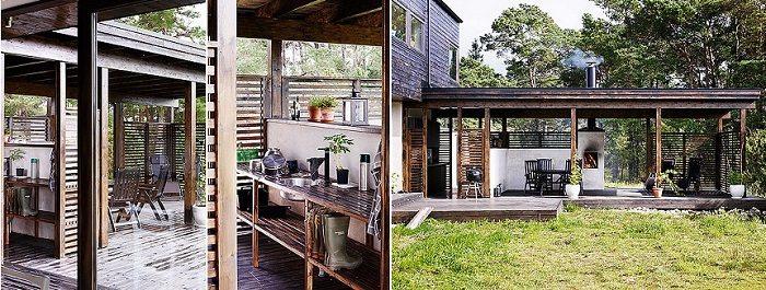exteriores madera decoraciones efectos plantas