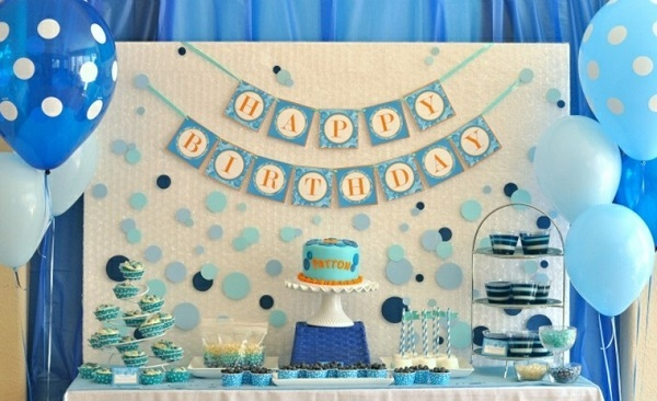 fiestas infantiles decoracion color azul ideas