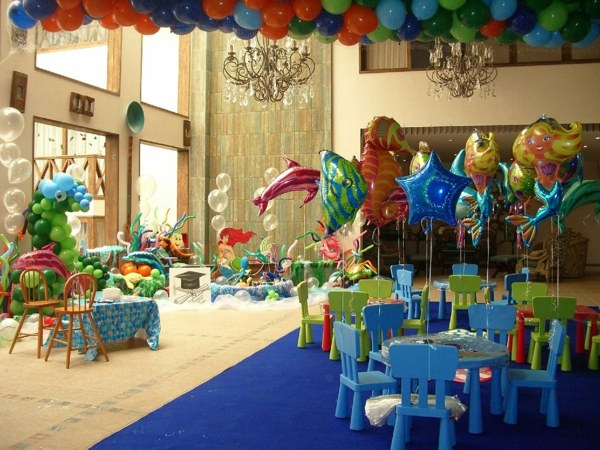 fiestas infantiles decoracion globos animales ideas