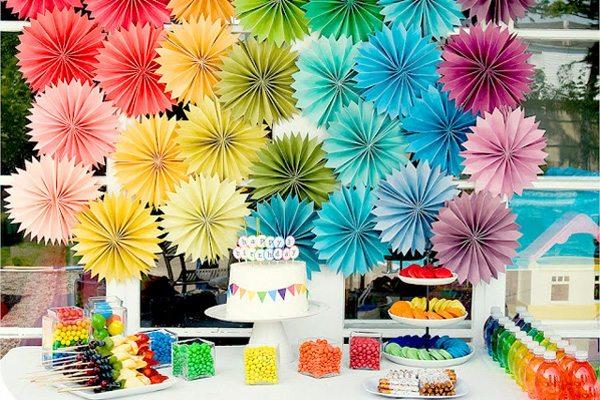 fiestas infantiles papel colorido guirnaldas opciones ideas