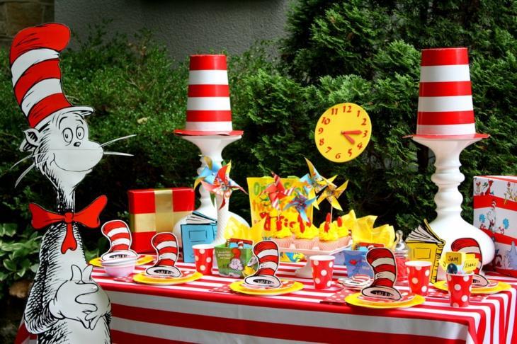 fiestas tematicas efectos colores rayas
