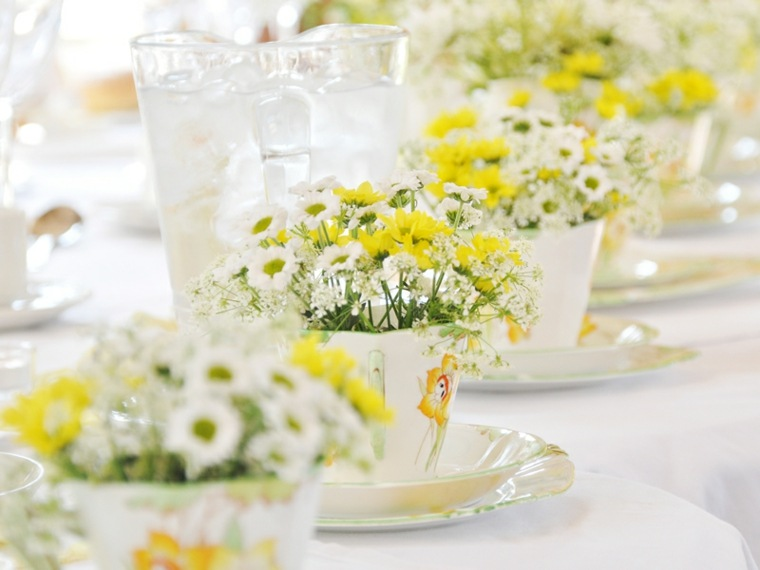 Decoracion para bodas en verano cuarenta y dos ideas for Adornos para bodas con plantas