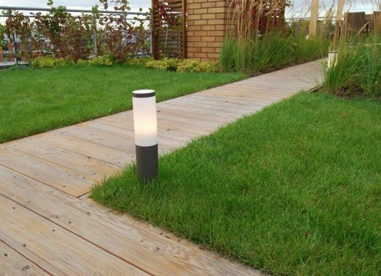 Iluminacion exterior luces led de dise o moderno - Lamparas exterior jardin ...