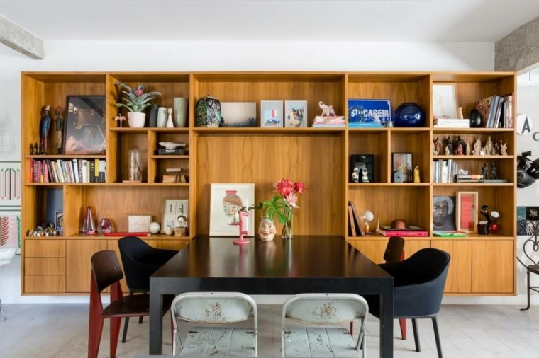 mueble sala estar madera