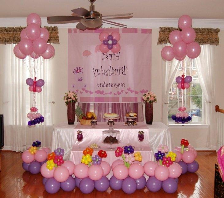 globos rosa niñas puertas salones celebraciones estilos
