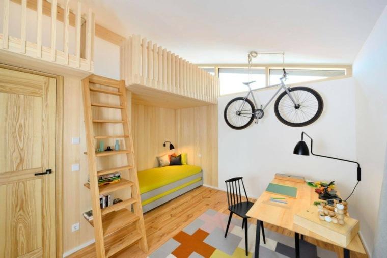 habitaciones infantiles madera estilo moderno