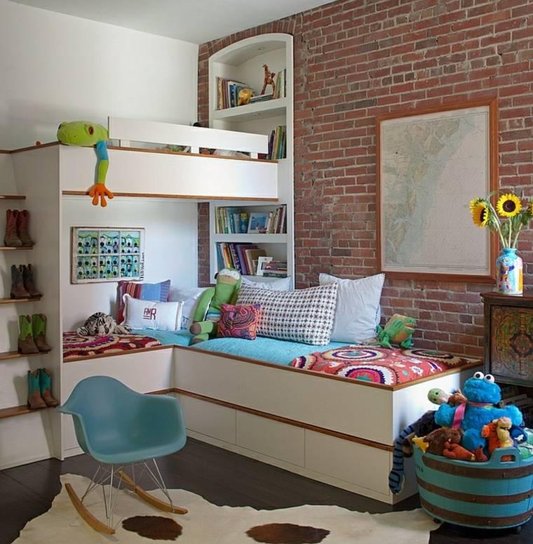 habitaciones niños diseño moderno deco