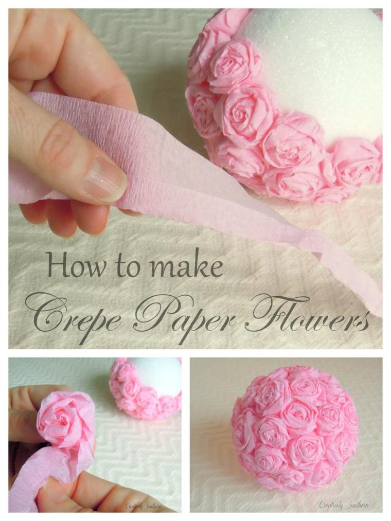 hacer corona rosas papel