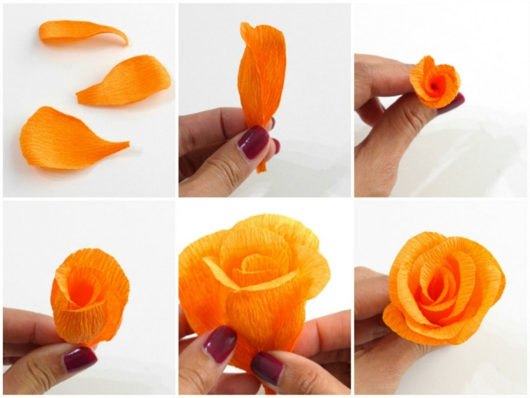 rosa papel color naranja