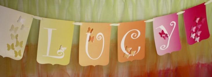 ideas decoracion cumpleaños cadenetas conceptos mariposas