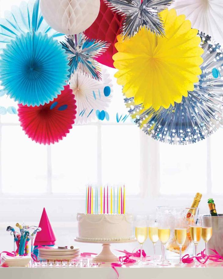 ideas decoracion cumpleaños colores especiales lineas