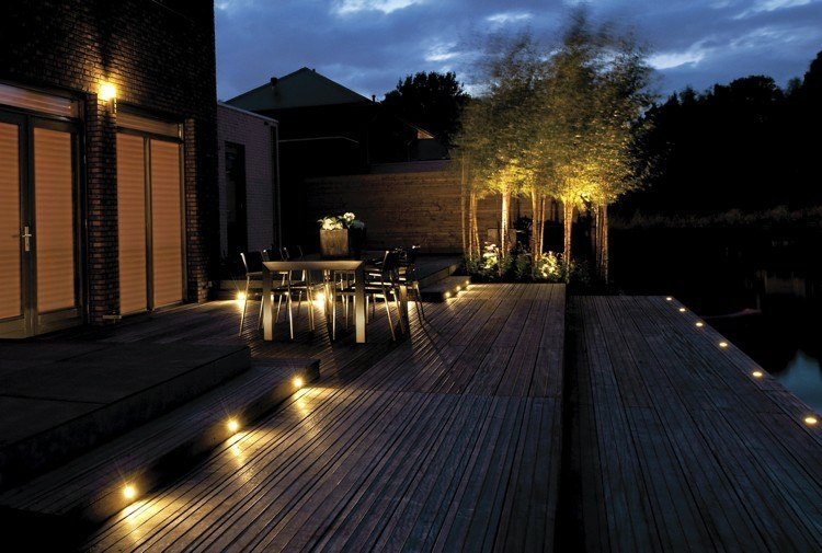 ideas colocar luces patio terraza