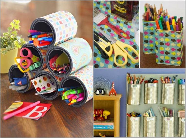 Ideas decoracion baratas y bellas reciclar de forma art stica - Creative attarctive home office decorating ideas ...