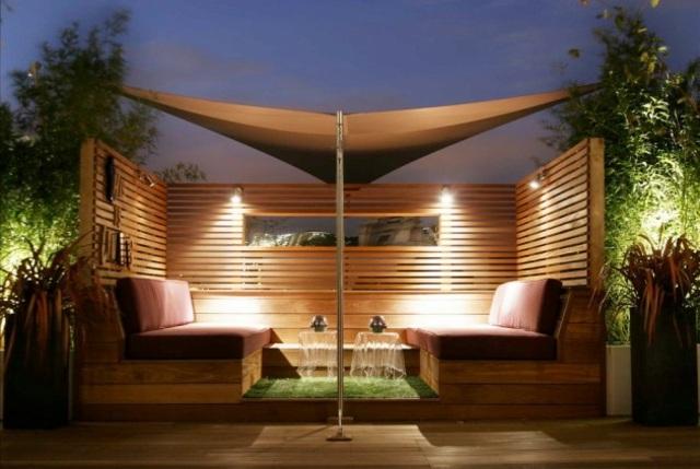 iluminacion muebles terraza pergola ideas exterior