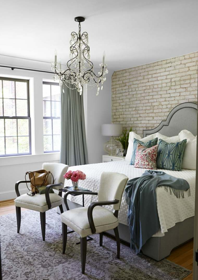 imagenes impresionantes dormitorio cama persianas grices ideas
