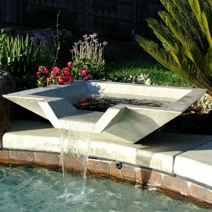 imagenes jardin original fuente agua ideas