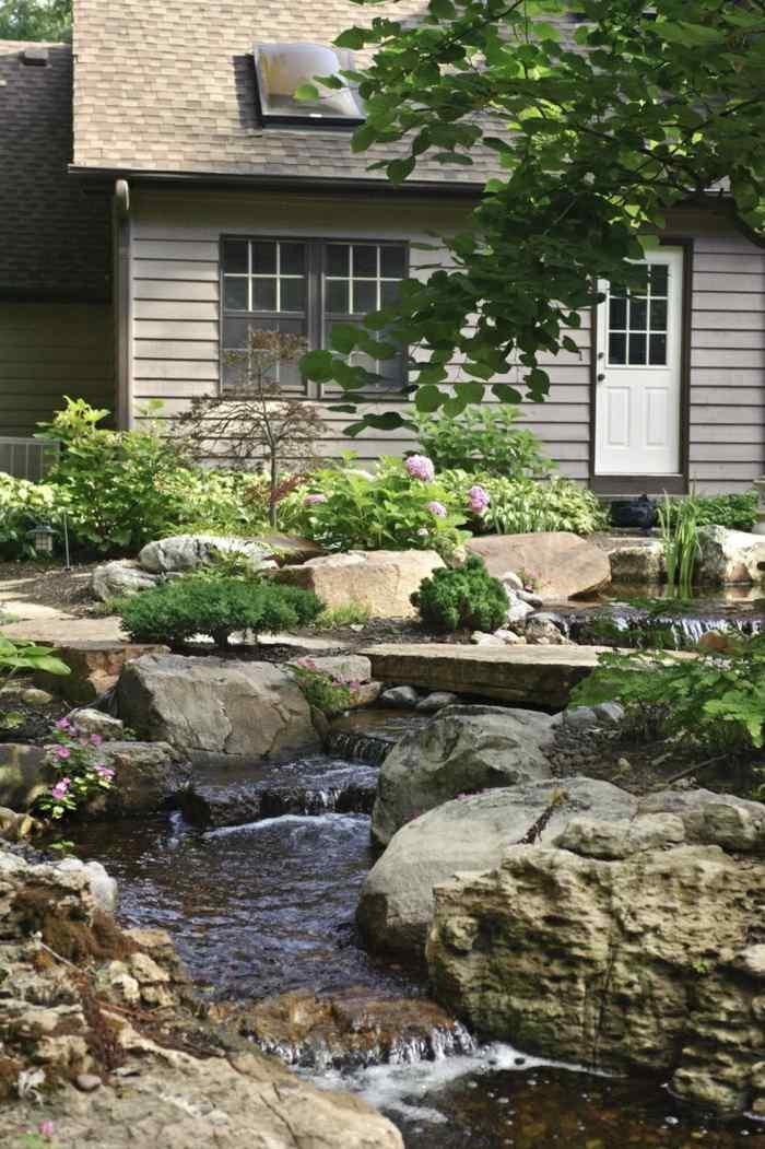 imagenes jardin original piedras grandes ideas