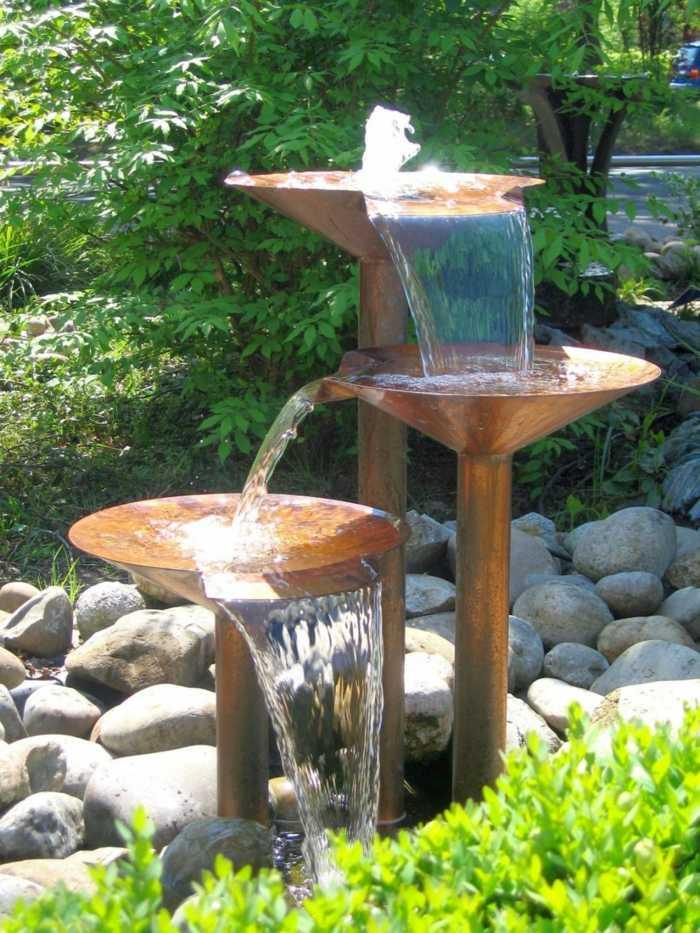 imagenes paisaje jardin fuente agua ideas