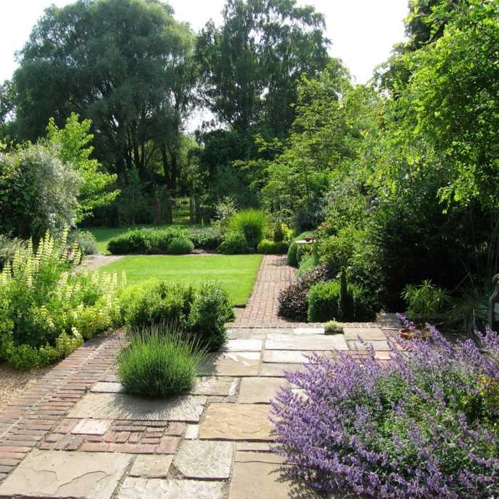 imagenes paisajes jardin cesped opciones ideas