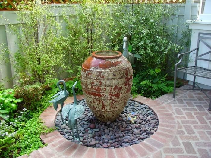imagenes paisaje jardin pajaros decorativos ideas