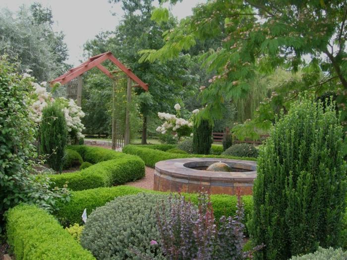 imagenes paisaje jardin plantas verdes estanque ideas