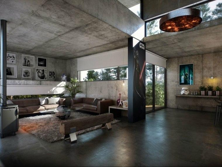 interior diseño cemento armado concreto