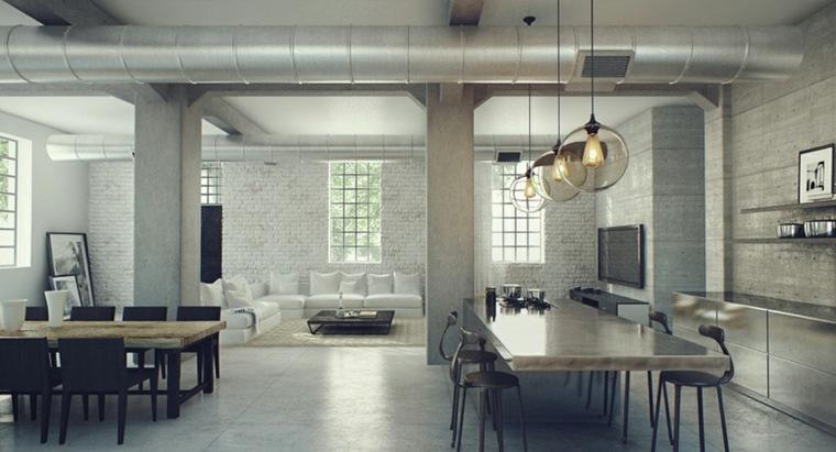 interior amplio estilo industrial