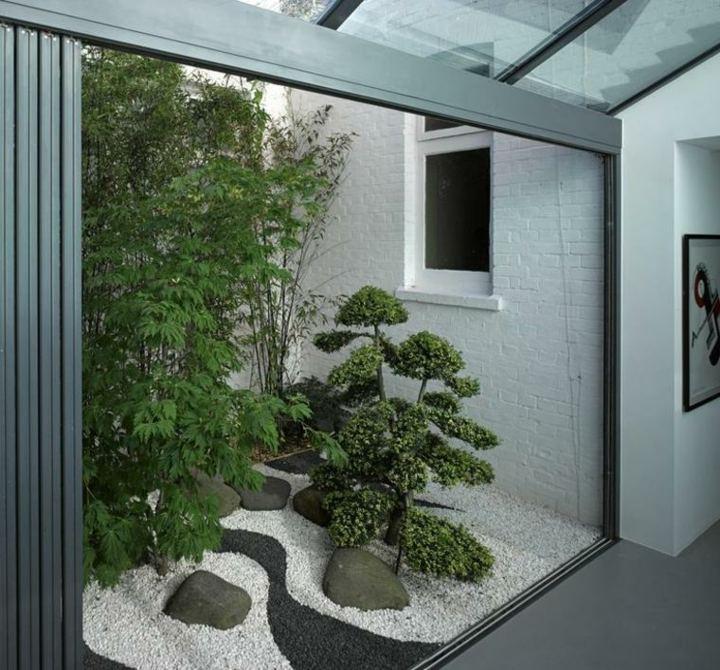 interiores escaleras muestras grava tejados