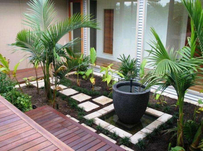 Dise o de jardines ideas para espacios peque os - Suelos para jardines pequenos ...
