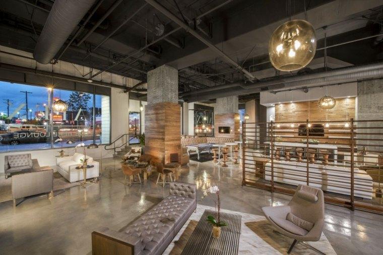 diseños interiores modernos estilo industruial