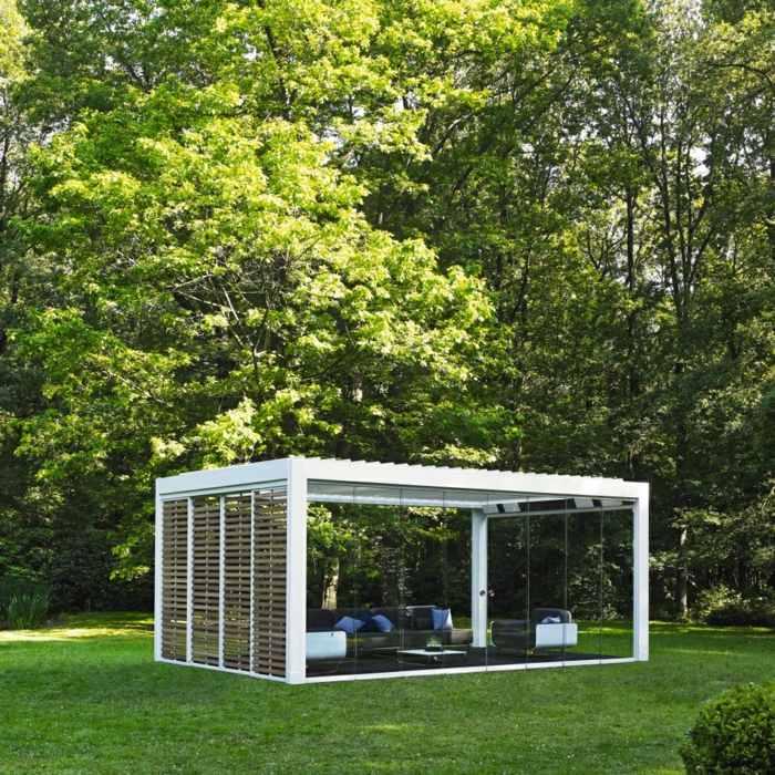 jardin amplio diseno innovador salon aire libre pergola ideas