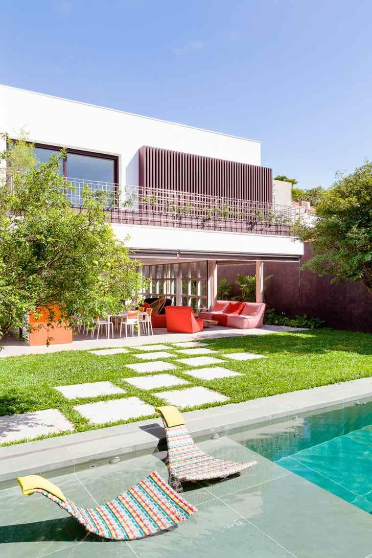 jardin casa disenada Pascali Semerdjian Architects Design ideas