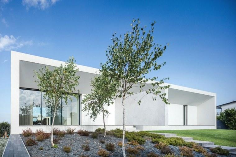 jardin casa disenada Raulino Silva Arquitecto ideas