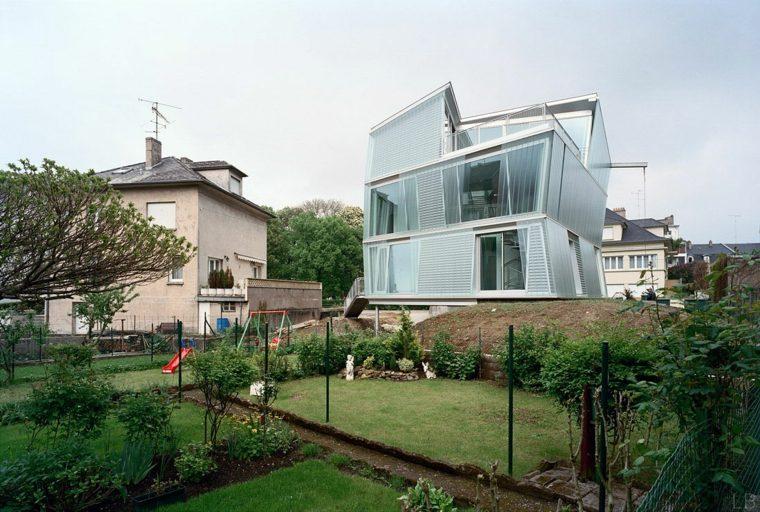 jardin casa moderno disenada Peripheriques architectes ideas