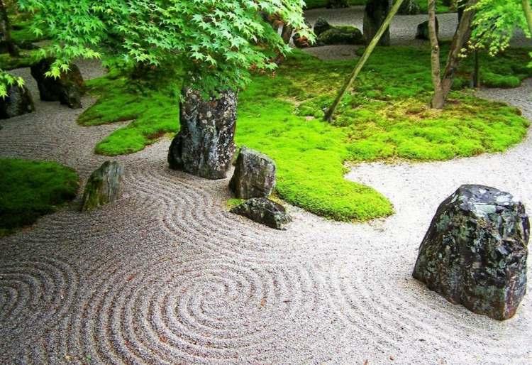 jardin japones jardineria grava movimientos pendientes