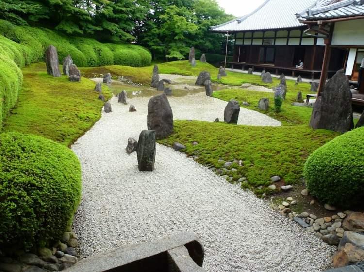 jardin japones jardineria lieas conceptos paredes