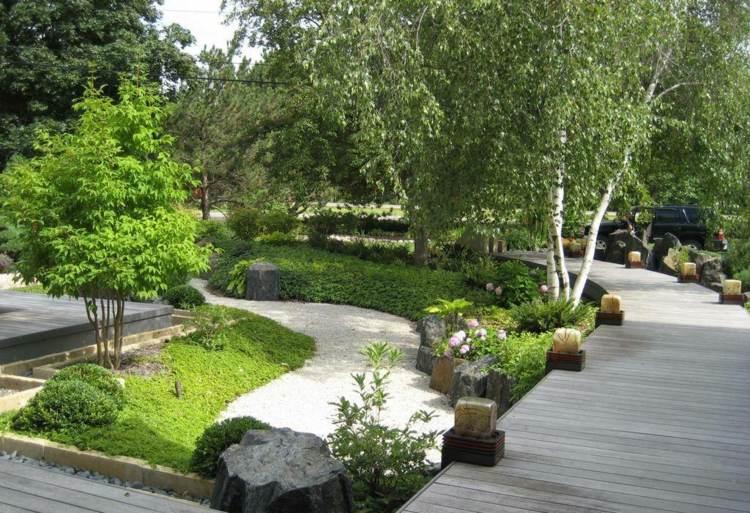 jardin japones jardineria muros colores plantas