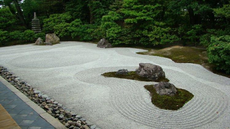 jardin japones jardineria musgos roca ideas ambientes