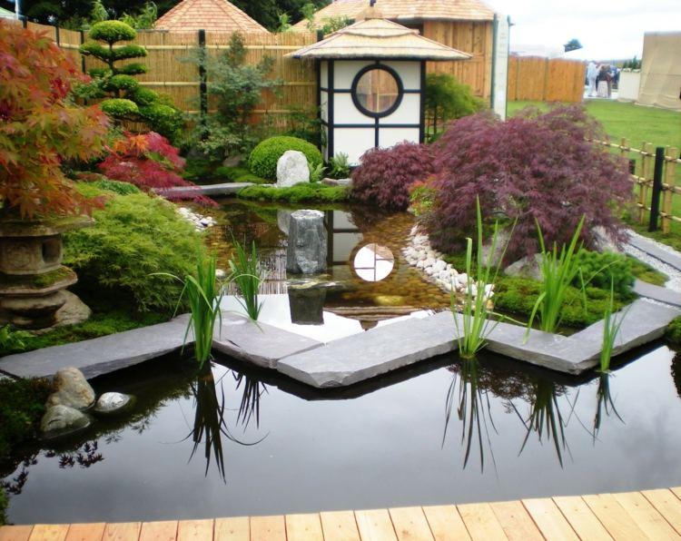 jardin japones jardineria puentes muebles lagunas