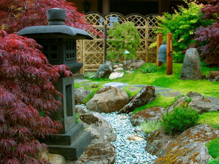 jardin japones jardineria rocas efectos paredes