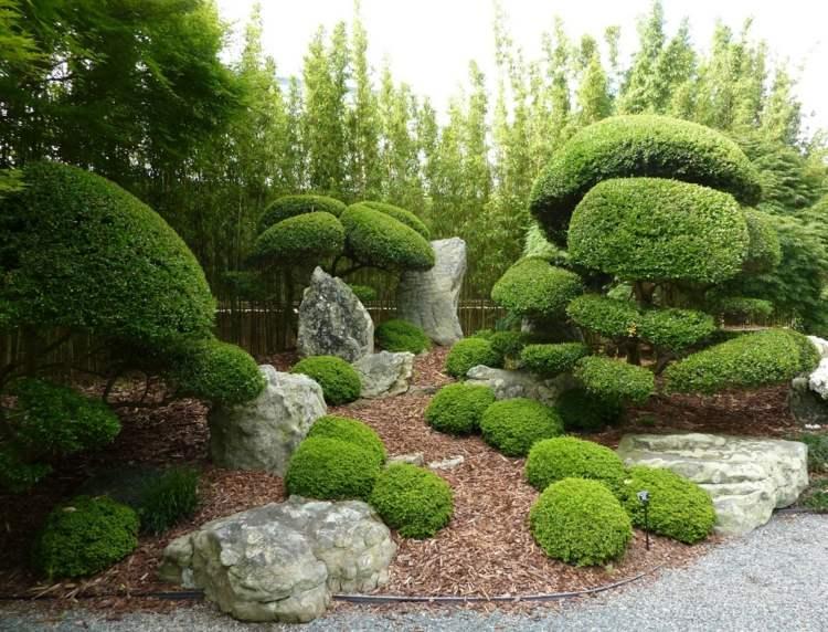 jardin japones jardineria siluetas efectos mantillo