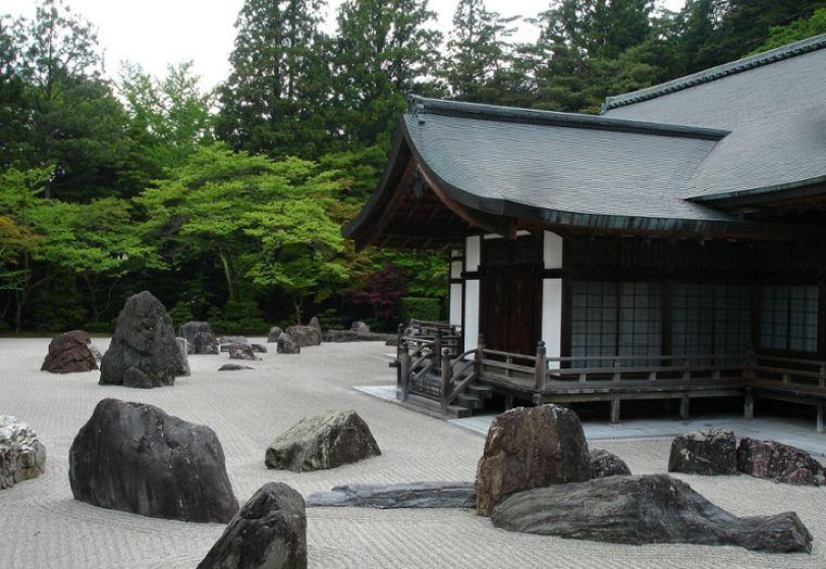jardin japonés rocas piedras
